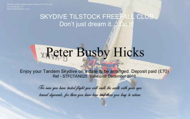 skydive Voucher